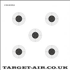 6 Yards Air Rifle NSRA - Practice Shooting Targets, 250gsm Card
